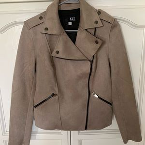 Kut From the Kloth Faux Suede Moto Jacket NWOT